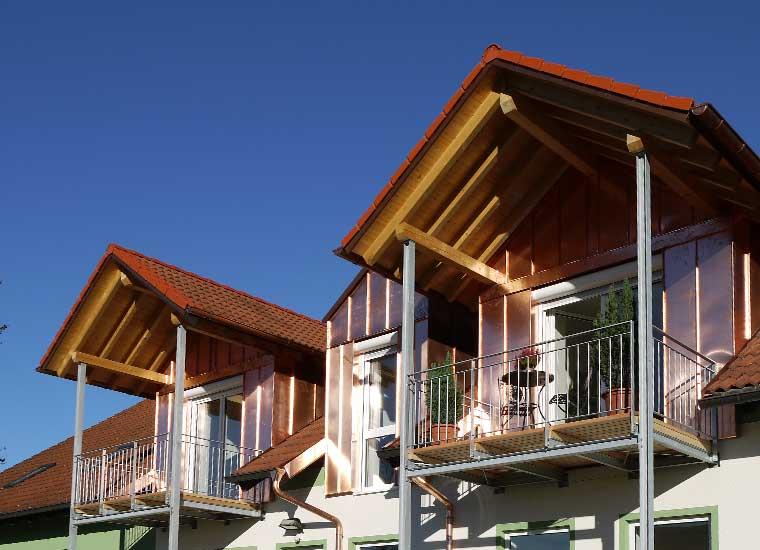 Stahl- und Metallbau, Referenz Balkon- und Treppenkonstruktion